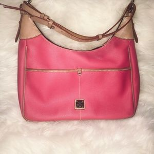 Dooney & Bourke Hot Pink Pebble Grain Hobo Bag